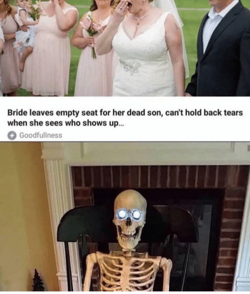 bride: Bride leaves empty seat for her dead son, can't hold back tears  when she sees who shows up...  Goodfullness