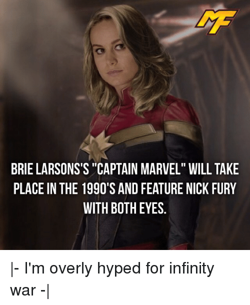 """nick fury: BRIE LARSONS'S """"CAPTAIN MARVEL"""" WILL TAKE  PLACE IN THE 1990'S AND FEATURE NICK FURY  WITH BOTH EYES 