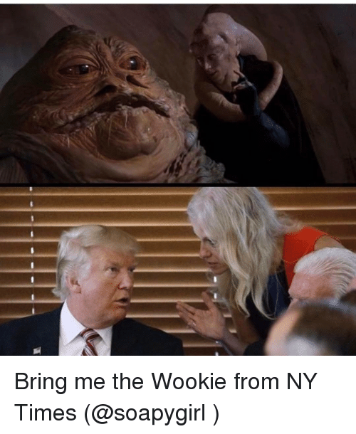 Wooki: Bring me the Wookie from NY Times (@soapygirl )