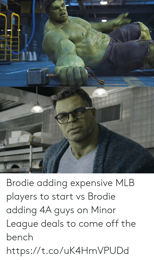 Come Off The Bench: Brodie adding expensive MLB players to start vs Brodie adding 4A guys on Minor League deals to come off the bench https://t.co/uK4HmVPUDd