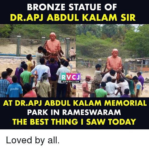 apj: BRONZE STATUE OF  DR.APJ ABDUL KALAM SIR  RVCJ  wWW.RVCJ.COM  AT DR.APJ ABDUL KALAM MEMORIAL  PARK IN RAMESWARAM  THE BEST THING I SAW TODAY Loved by all.