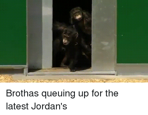 Caged: Brothas queuing up for the latest Jordan's