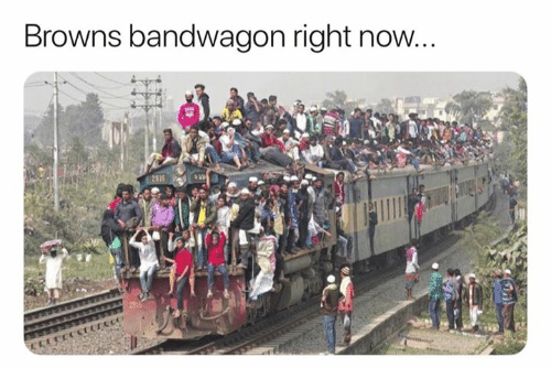 Nfl, Browns, and Right: Browns bandwagon right novw
