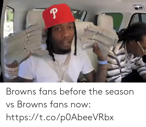 Football, Nfl, and Sports: Browns fans before the season vs Browns fans now: https://t.co/p0AbeeVRbx