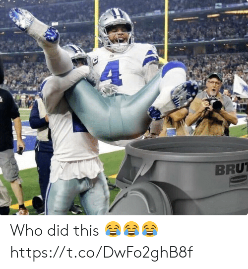 Who Did This: BRU Who did this 😂😂😂 https://t.co/DwFo2ghB8f