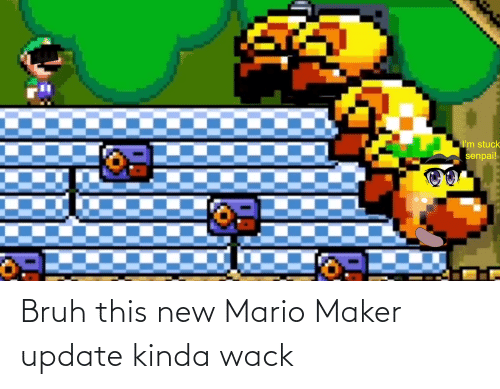 maker: Bruh this new Mario Maker update kinda wack