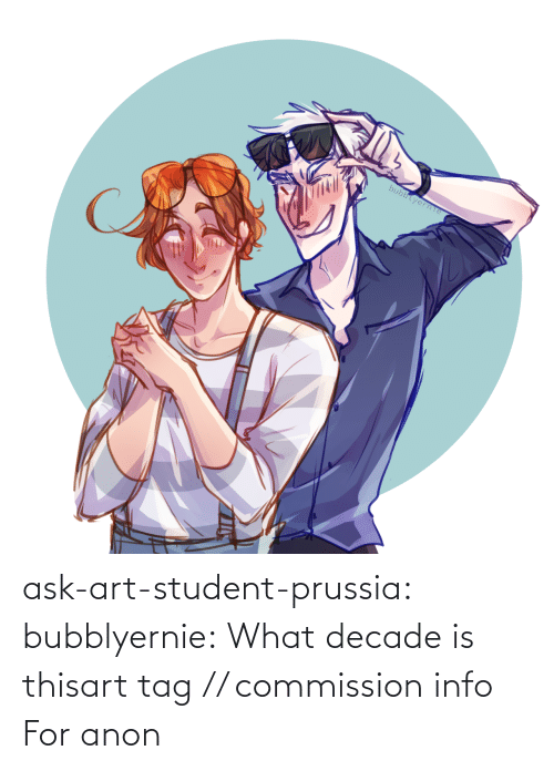 tag: bubblyerne ask-art-student-prussia:  bubblyernie:  What decade is thisart tag // commission info   For anon