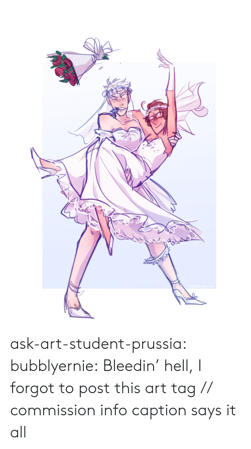 Target, Tumblr, and Blog: bubblyernie ask-art-student-prussia:  bubblyernie: Bleedin' hell, I forgot to post this art tag // commission info  caption says it all