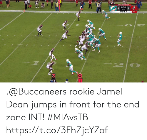 Memes, 🤖, and Buccaneers: BUCS NETWORK  6:30  4TH  3RD & 7  05  2 .@Buccaneers rookie Jamel Dean jumps in front for the end zone INT!  #MIAvsTB https://t.co/3FhZjcYZof