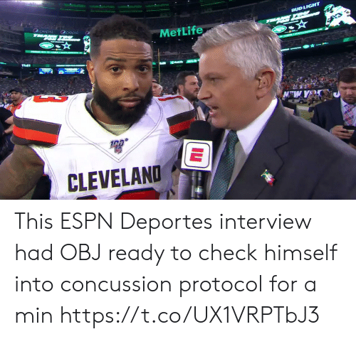 deportes: BUD LIGHT  pepsi  T  Opepsi  MetLife  CLEVELAND This ESPN Deportes interview had OBJ ready to check himself into concussion protocol for a min  https://t.co/UX1VRPTbJ3