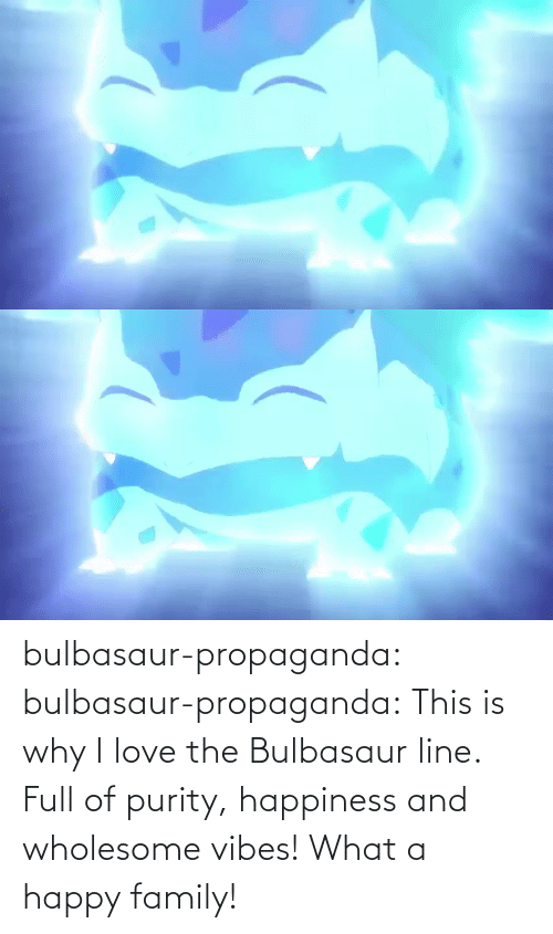 Happiness: bulbasaur-propaganda:  bulbasaur-propaganda:   This is why I love the Bulbasaur line. Full of purity, happiness and wholesome vibes!    What a happy family!