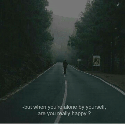 Being Alone, Happy, and You: -but when you're alone by yourself,  are you really happy?