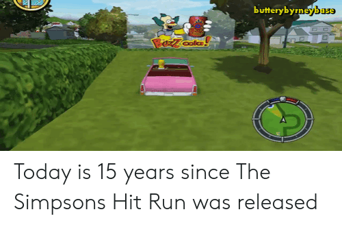 Run, The Simpsons, and The Simpsons: butterybyrneybase  colc Today is 15 years since The Simpsons Hit  Run was released