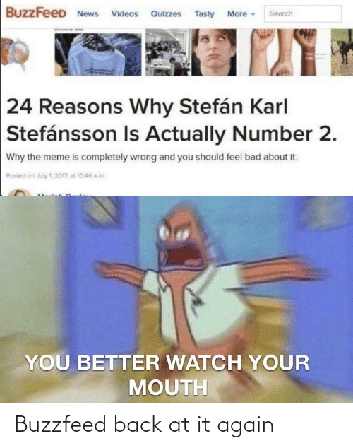 Back at It Again: Buzzfeed back at it again