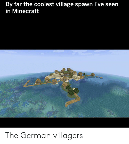 By Far the Coolest Village Spawn I've Seen in Minecraft the