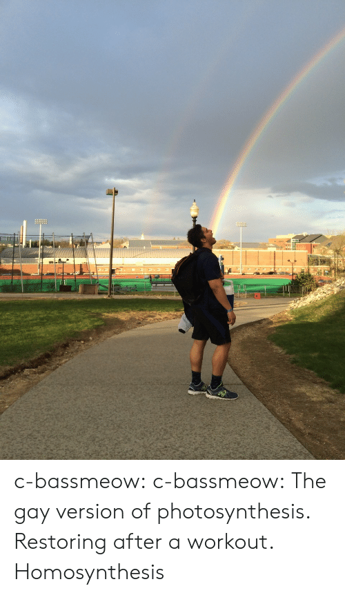 Tumblr, Blog, and Http: c-bassmeow: c-bassmeow:  The gay version of photosynthesis. Restoring after a workout.  Homosynthesis