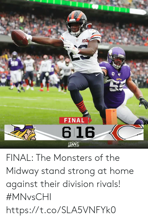 monsters: C  FINAL  616 FINAL: The Monsters of the Midway stand strong at home against their division rivals!  #MNvsCHI https://t.co/SLA5VNFYk0