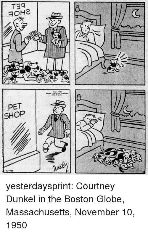 "Target, Tumblr, and Blog: (C  PET  SHOP  2""  I-10 yesterdaysprint:   Courtney Dunkel in the Boston Globe, Massachusetts, November 10, 1950"