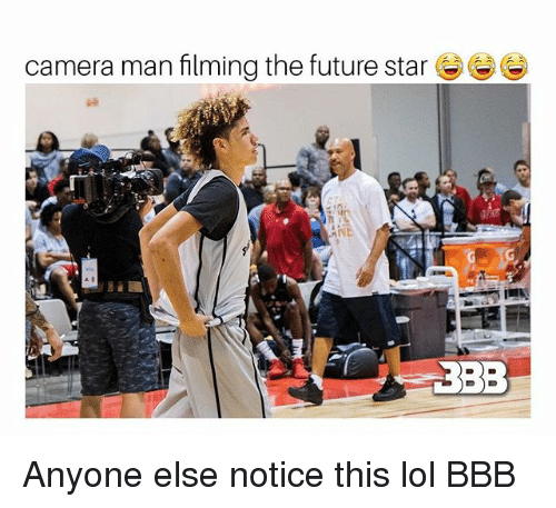 Bbb, Future, and Lol: camera man filming the future star  3BB Anyone else notice this lol BBB