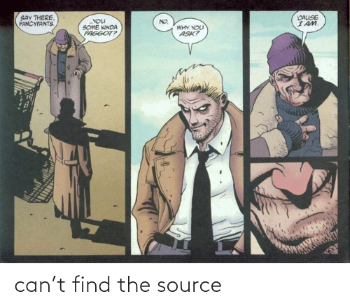 find: can't find the source