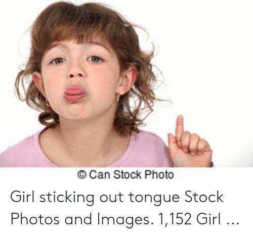 Woman sticking tongue out