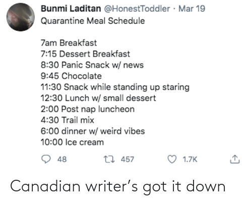 It Down: Canadian writer's got it down