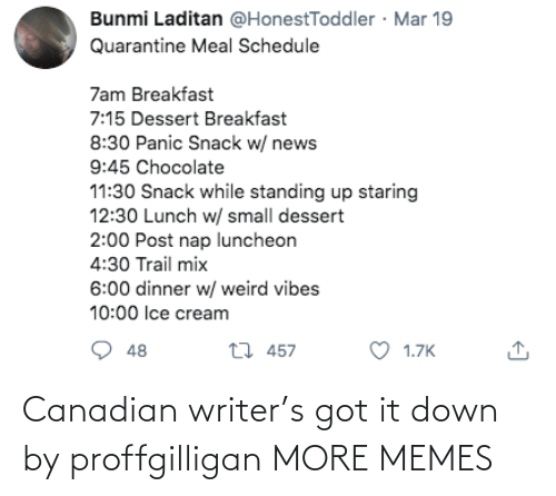 It Down: Canadian writer's got it down by proffgilligan MORE MEMES
