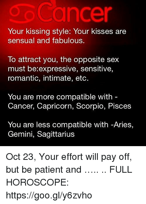 cancer capricorn sexually compatible