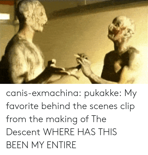 descent: canis-exmachina: pukakke: My favorite behind the scenes clip from the making of The Descent  WHERE HAS THIS BEEN MY ENTIRE
