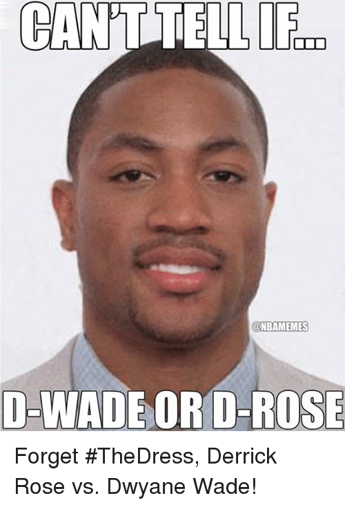 fid: CANT TELL FID  @NBAMEMES  D-WADE  OR D-ROSE Forget #TheDress, Derrick Rose vs. Dwyane Wade!