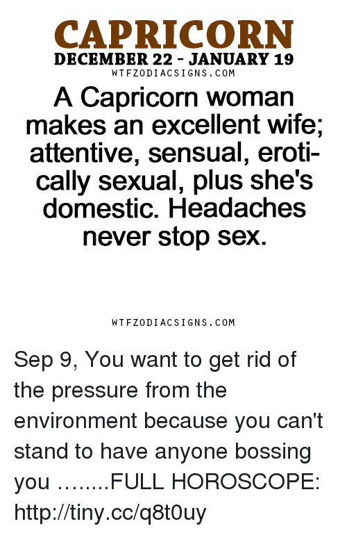 How to please a capricorn woman sexually