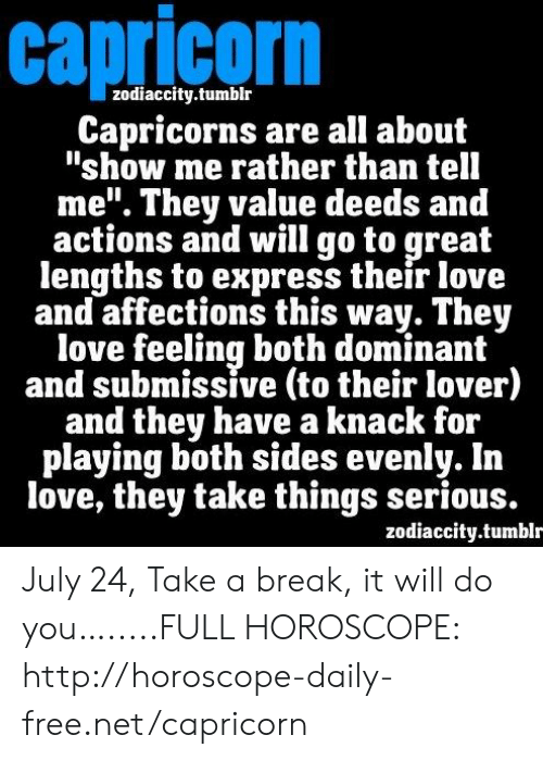 Capricorn Zodiaccitytumblr Capricorns Are All About Show Me