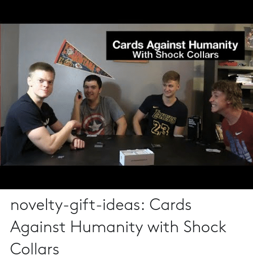 Cards Against Humanity, Tumblr, and Blog: Cards Against Humanity  With Shock Collars  23 novelty-gift-ideas:  Cards Against Humanity with Shock Collars