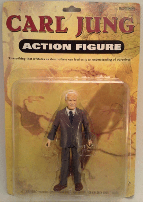 irritability: CARL JUNG  ACTION FIGURE  Everything that irritates us about others can lead us to an understanding of ourselves  OR CHILDREN