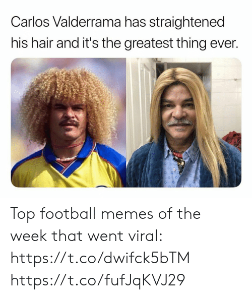 Football Memes: Carlos Valderrama has straightened  his hair and it's the greatest thing ever. Top football memes of the week that went viral: https://t.co/dwifck5bTM https://t.co/fufJqKVJ29