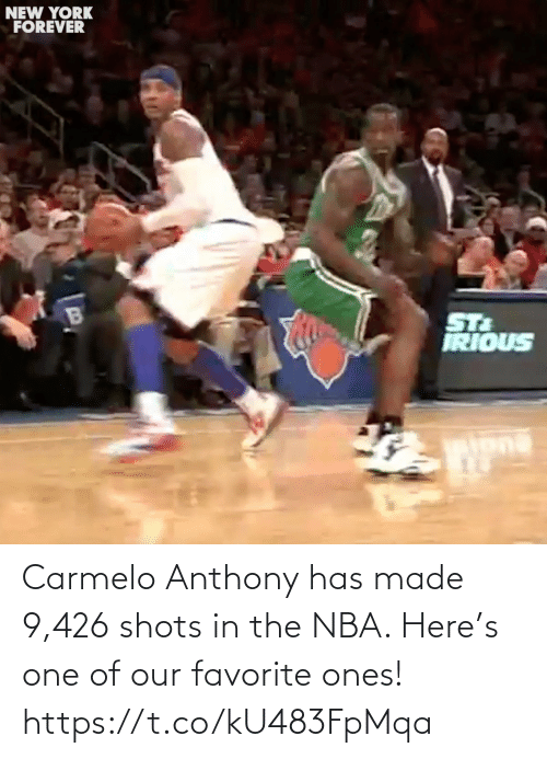 Ones: Carmelo Anthony has made 9,426 shots in the NBA. Here's one of our favorite ones! https://t.co/kU483FpMqa