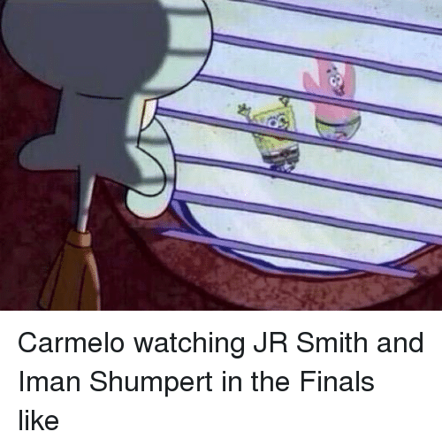 Iman Shumpert: Carmelo watching JR Smith and Iman Shumpert in the Finals like