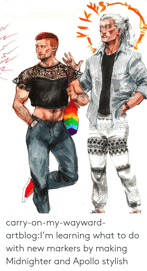 Stylish: carry-on-my-wayward-artblog:I'm learning what to do with new markers by making Midnighter and Apollo stylish