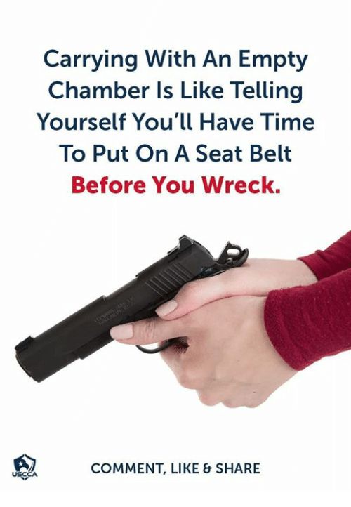 Carrying With an Empty Chamber Is Like Telling Yourself You