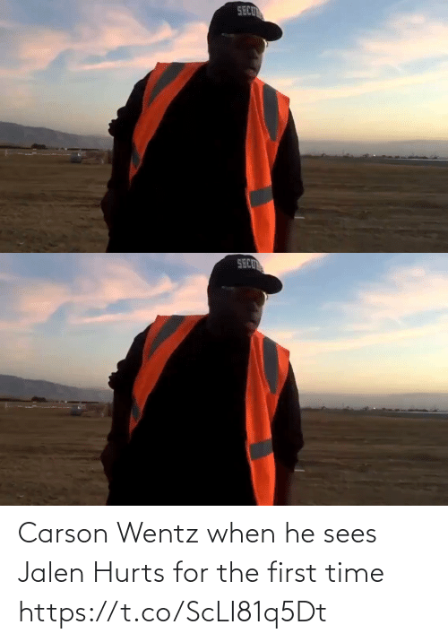 First Time: Carson Wentz when he sees Jalen Hurts for the first time  https://t.co/ScLI81q5Dt