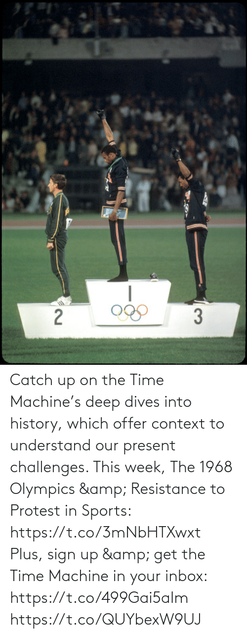 Inbox: Catch up on the Time Machine's deep dives into history, which offer context to understand our present challenges. This week, The 1968 Olympics & Resistance to Protest in Sports: https://t.co/3mNbHTXwxt   Plus, sign up & get the Time Machine in your inbox: https://t.co/499Gai5aIm https://t.co/QUYbexW9UJ