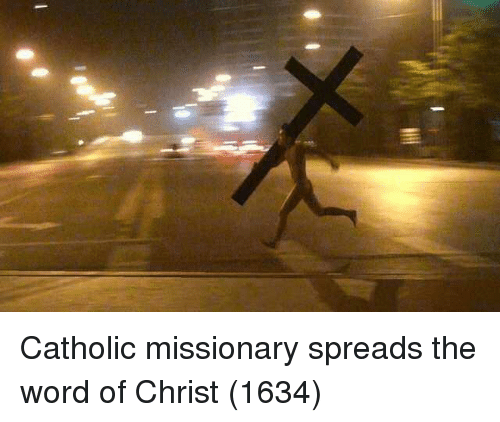 spreads: Catholic missionary spreads the word of Christ (1634)