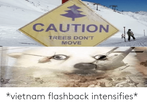 dont move: CAUTION  TREES DON'T  MOVE *vietnam flashback intensifies*