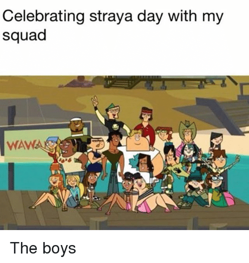 My Squad: Celebrating straya day with my  squad  WAWA The boys
