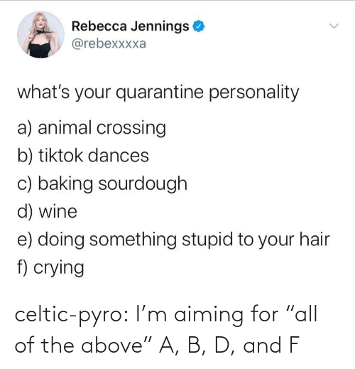 "All Of: celtic-pyro:  I'm aiming for ""all of the above""   A, B, D, and F"