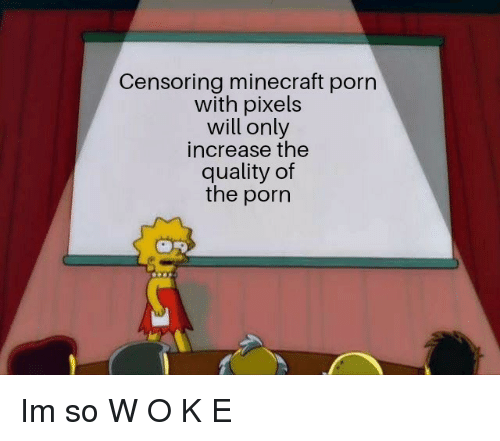 Minecraft, Pixels, and Porn: Censoring minecraft porn  with pixels  will only  increase the  quality of  the porn Im so W O K E