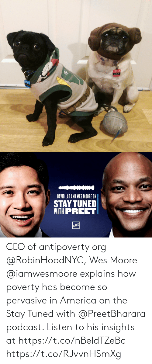 in america: CEO of antipoverty org @RobinHoodNYC, Wes Moore @iamwesmoore explains how poverty has become so pervasive in America on the Stay Tuned with @PreetBharara podcast. Listen to his insights at https://t.co/nBeIdTZeBc https://t.co/RJvvnHSmXg