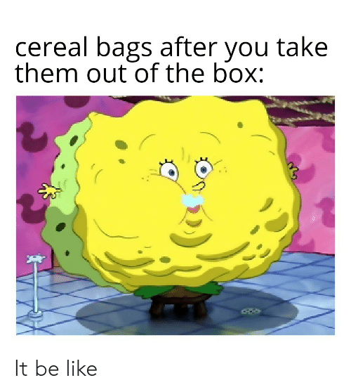 the box: cereal bags after you take  them out of the box: It be like