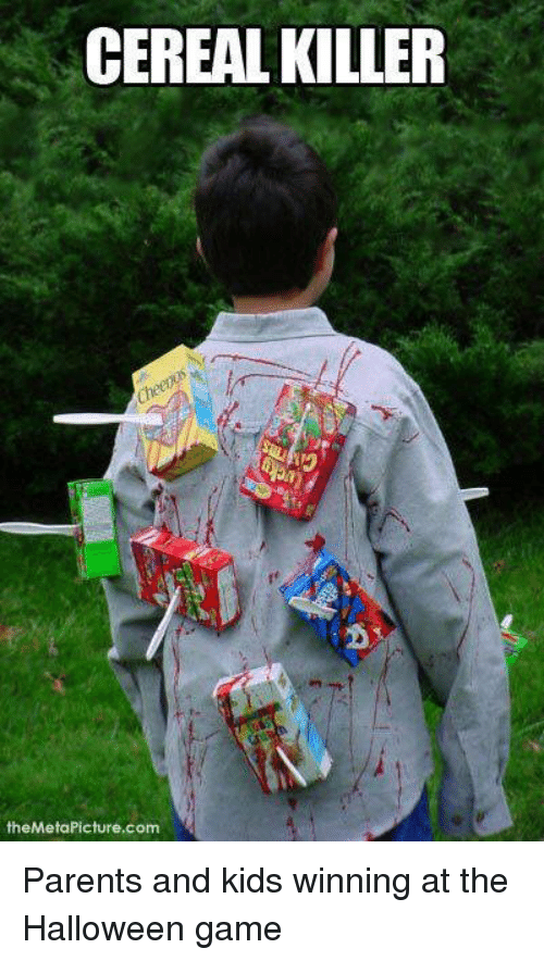 cereal killer: CEREAL KILLER  theMetaPicture.com Parents and kids winning at the Halloween game