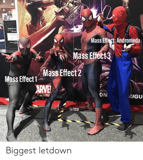 Mass Effect Andromeda: CHALL  Mass Effect: Andromeda  Mass Effect3  ft  Mass Effect2  Mass Effect1  ON  UGU  329 Biggest letdown